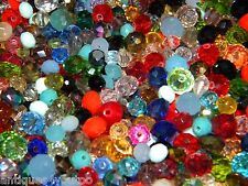 NEW 100/Pcs LOT 6-10mm CRYSTAL RONDELLE GLASS Faceted Czech Beads Mixed colors