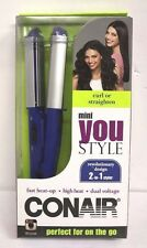 New Conair You Style 2-in-1 Mini Ceramic Curler/Straightener - CS69RR