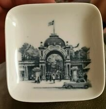 "Vintage 1970s, Royal Copenhagen Denmark Mini-Plate, ""Old Time Village"""