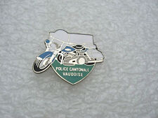 PIN'S POLICE CANTONALE VAUDOISE / MOTO CANTON VAUD SUISSE /   PINS PIN  P5