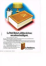 PUBLICTE  1972   LE PETIT ROBERT   dictionnaire