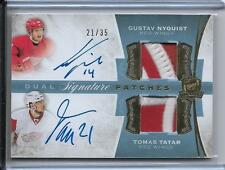 15 16 CUP DUAL SIGNATURE PATCHS NYQUIST  TATAR AUTO / 35 RED WINGS