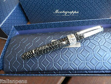 MONTEGRAPPA EXTRA OTTO ZEBRA FOUNTAIN PEN LIMITED EDITION CELLULOID
