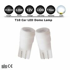 2X White T10 COB Chip Ceramic High Power 168 194 Dome Map Cargo LED Light Bulb