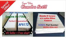 Combo Set Engine & Cabin Air Filter For ACURA MDX 10 11 12 13 AF6172 C35519