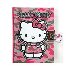 Sanrio Hello Kitty Secret Locking Diary : Pink Camouflage