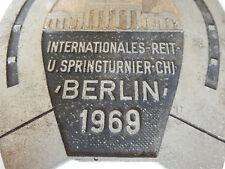 Horse Show Berlin Berlin:1969 PLAQUE ALUMINIUM 19 CM TALL  equestrian eventing