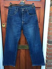 Bench Mens Cinch Back Loose Fit Button Fly Blue Jeans - W32 L34