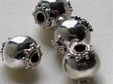 Bali sterling silver beads~Grey Ghost Q4~metal spacer-9mm-2mm hole