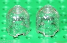 Lego 2x Transparent Clear Sparkling Brick, Round 2x2x1 Dome Top NEW!