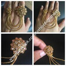 Oceano indiano/pakistano gioielli 2 Regolabile Polki Fingerring, Anello, knuckleband