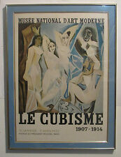 "PABLO PICASSO LITHO. POSTER ""LE CUBISME"" 1953 MUSEE NATIONAL D'ART,PARIS, FRAMED"