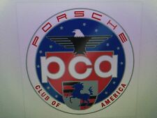 Official Porsche PCA Car Club of America Window Sticker Decal Display