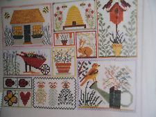 Jardín Sampler Cross Stitch gráficos # 210
