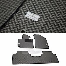 TUON OEM Parts Carbon Style Metal Rubber Floor Mats 3p for KIA 2014 - 2016 Soul