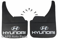 Universal Car Mudflaps Front Rear Hyundai Logo Terracan Trajet Mud Flap Guard