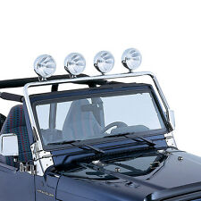 JEEP WRANGLER TJ 97 - 06 STAINLESS STEEL FULL FRAME LIGHT BAR HOLDS 4 LIGHTS