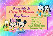 Disney Baby Mickey Mouse & Friends Baby Shower Invitations 12 pk Personalized