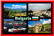 BULGARIA - SOUVENIR NOVELTY FRIDGE MAGNET - SIGHTS / FLAG - BRAND NEW - GIFT