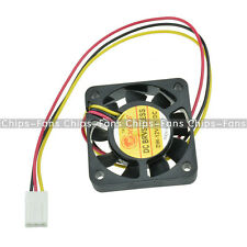 2PCS 3 Pin 4cm Computer CPU Cooler Cooling Fan PC 4cm 40x40x10mm DC 12V
