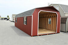 AMISH BUILT 14x30 GAMBREL BARN GARAGE STORAGE SHED DURATEMP T111 WOOD