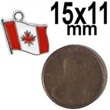 10x Canadian maple leaf flag 15mm x 11mm jewelry charm / pendant Canada 10 pcs