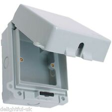 Weatherproof Waterproof IP65 Switched 13A Fused Spur: Lockable Box/Outdoor Use