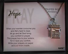 d Hope Pray Prayer Box Necklace Let God bring you comfort ganz