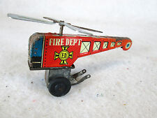 Vintage tiny tin FD Fire Dept. helicopter toy Japan