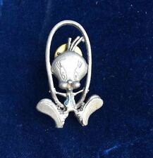 Warner Brothers Looney Tunes Pewter TWEETY BIRD Pin Tie Tack