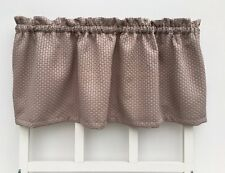 Brown Tan Basket Weave Cottage Style Valance Window Treatment