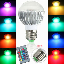 E27 15W RGB LED Lampe Couleur Changement Ampoule Spot Globe 24 Télécommande 220V