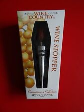 "Wine Country Wood Top Bottle Stopper Wine Cork ""Connoisseur's Collection"" - NRFB"