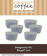 6 Krups Style F472 Duo Charcoal Water Filters Fit FMF FME 629 619 180 176 466
