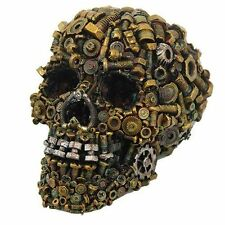 STEAMPUNK NUTS & BOLTS SKULL SKELETON FIGURINE STATUE HALLOWEEN