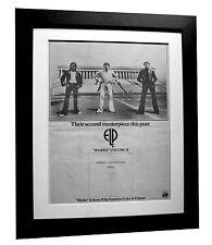 EMERSON LAKE PALMER+ELP+Works 2+POSTER+AD+FRAMED+ORIGINAL 1977+FAST GLOBAL SHIP