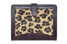 New Cover Case Stand iPAD 2 3 & 4 Brown Leopard Print Luxury Genuine Leather