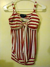 BEBE Q Red Striped Ladies Top size XS