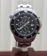 Rotary AQUASPEED Mens Watch Divers Style Chronograph S/Steel RRP £240 ( R88