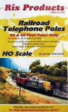 Rix Products- RAILROAD TELEPHONE POLES -30' & 40' POLES ONLY- HO Scale  628-0030