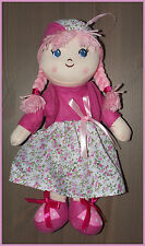 NEU DIMIAN My first BAMBOLINA Stoffpuppe Weichpuppe Puppe 35 cm pink rosa Kleid