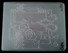 Sizzix Large Embossing Folder SEWING fits Cuttlebug & Wizard