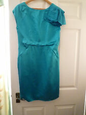 Untold House of Fraser teal party dress UK12 Christmas party silk, NEW