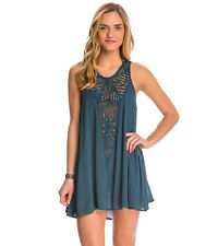 Oneill Sophie Saphire Green Crochet Swimsuit Cover Up M Medium NEW NWT