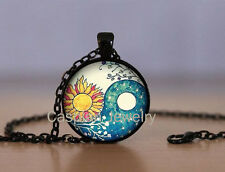 Sun & Moon Ying Yang Black (wtr) Fashion Jewelry Pendant Necklace Top quality