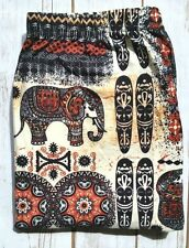Plus Size Aztec Elephant Print Bronze Tribal Printed Soft Leggings Plus