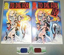 TO DIE FOR # 1 3D & REGULAR EDITION HORROR VAMPIRE BLACKTHORNE COMICS MOVIE