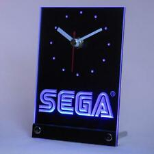 SEGA 3D Neon Table Desk Clock Gift System Game Gear Megadrive Wondermega MegaCD
