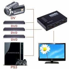5 PORT HDMI Switch Switcher Selector Splitter Hub + iR Remote 1080p For PS3 HDTV