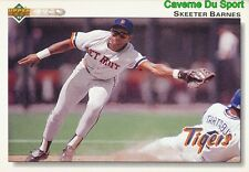 470 SKEETER BARNES DETROIT TIGERS  BASEBALL CARD UPPER DECK 1992